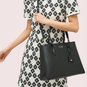 Kate spade eva medium top zip satchel black purse